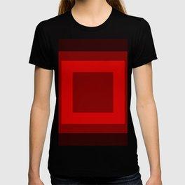 Dark Red Square Box Design T-shirt