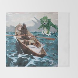 """Winslow Homer's """"Storm Warning"""" Revisted Throw Blanket"""