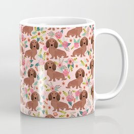 Long Haired Dachshund red coat pet friendly must have gifts for home dog lover Coffee Mug