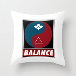 Samurai Balance Throw Pillow