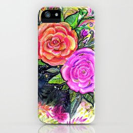 painting roses makes me EUPHORIC! iPhone Case