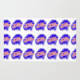 Happy 4th of July Graphic Logo Rug