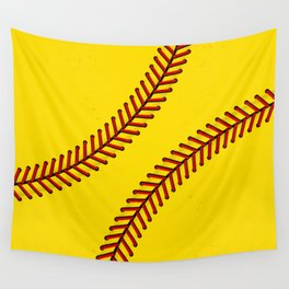 Fast Pitch Softball Wall Tapestry