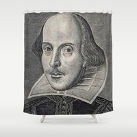 shakespeare Shower Curtains featuring William Shakespeare Portrait by BravuraMedia
