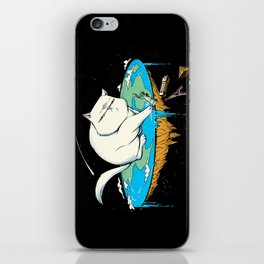 Flat Earth Cat iPhone Skin