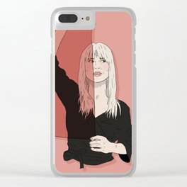 Rose-Colored Girl Clear iPhone Case