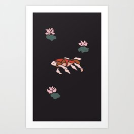 Being Koi Art Print