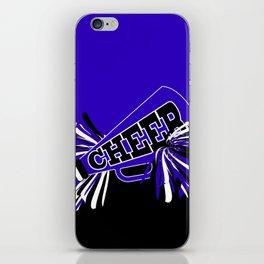 Blue, Black and White Cheerleader Design iPhone Skin