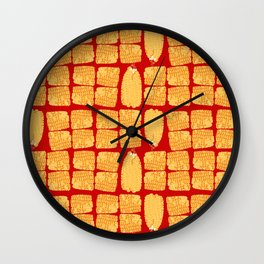 corn on the cob Wall Clock