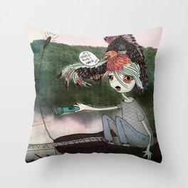 Tired Spirit Throw Pillow