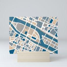 Paris Île de la Cité Map Mini Art Print