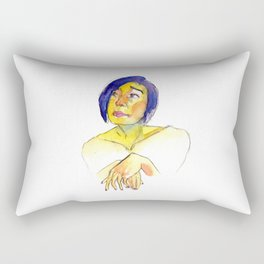 Sleepless Portrait Rectangular Pillow