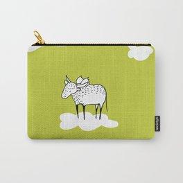 Flying Water Buffalo by Amanda Jones Carry-All Pouch