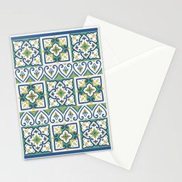 Italian Tile Pattern – Sicilian ceramic from Caltagirone Stationery Cards