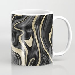 Black Gray White Gold Marble #1 #decor #art #society6 Coffee Mug