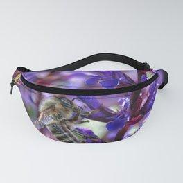 Bee on Purple Flowers Fanny Pack
