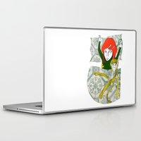 tina Laptop & iPad Skins featuring Tina&Ape by eva vasari