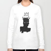 basquiat Long Sleeve T-shirts featuring KING BASQUIAT by Lucas Schievenin