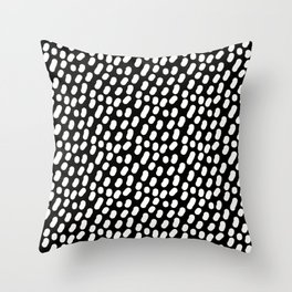 Dotts black and white Throw Pillow