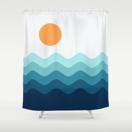 Abstract Landcape 14 Portrait Shower Curtain