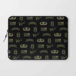 82nd Airborne Division Pattern (Green) Laptop Sleeve