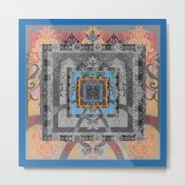 Trefoil Boujee Boho Sacred Geometric Portal Print Metal Print