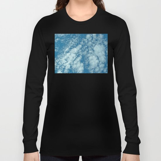 Fluffy clouds in a blue sky Long Sleeve T-shirt