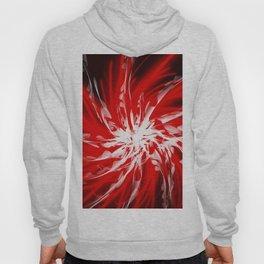 Dark Red Organic Spiral Hoody