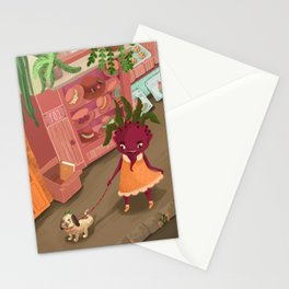 beetgirl and parsnip puppy - a day in paris Stationery Cards