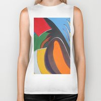 art deco Biker Tanks featuring Art Deco Revival by Ana Lillith Bar