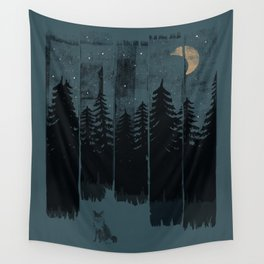 A Fox in the Wild Night... Wall Tapestry