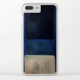 Mark Rothko Interpretation White And Greens In Blue Clear iPhone Case