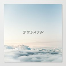 BREATH (Hipster Cloud Sky) Canvas Print