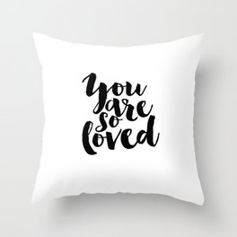 Nursery Decor You Are So Loved Nursery Printable Typographic Wall Art Typography Phrase Mini Learner Throw Pillow