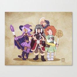 D&D Girls Canvas Print