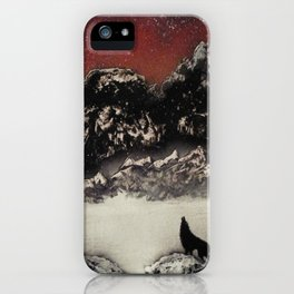 The Wolf and the Snow iPhone Case