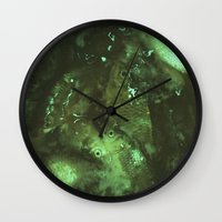 pisces Wall Clocks featuring Pisces by Elika