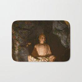 Buddha in Meditation in Rishikesh Bath Mat