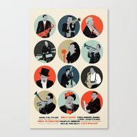 jazz Canvas Prints featuring Jazz  by Prelude Posters