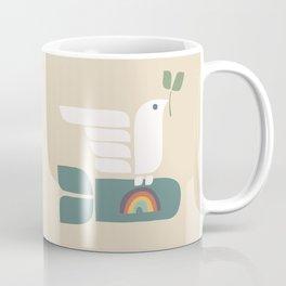 Peace dove and rainbow bomb Coffee Mug