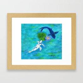 Blue Koi Framed Art Print