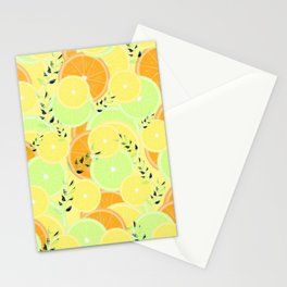 Lemon, Lime and Orange Slices Stationery Cards