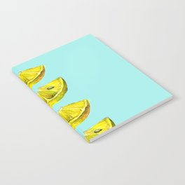 Lemon Slices Turquoise Notebook