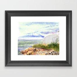little shore Framed Art Print