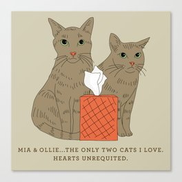 Hearts Unrequited Canvas Print