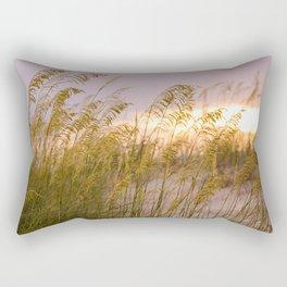 Sea grass in the sunset Rectangular Pillow