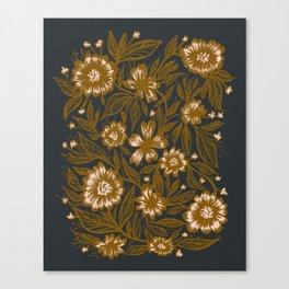 Flower Pattern | Botanical | Vintage Canvas Print