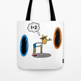 Pinocchio playing Portal Tote Bag