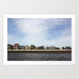 The city from the river  Art Print