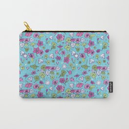 Flowers, Clovers & Diamonds Carry-All Pouch